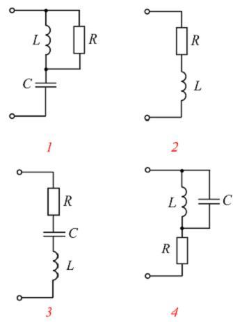 2. Весь вопрос с ответом.  Режим резонанса токов возможен в цепи, схема которой изображена на рисунке.